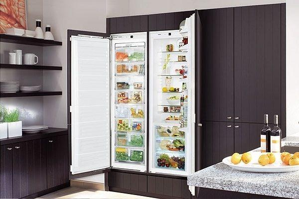 Встраеваемый холодильник Side by Side