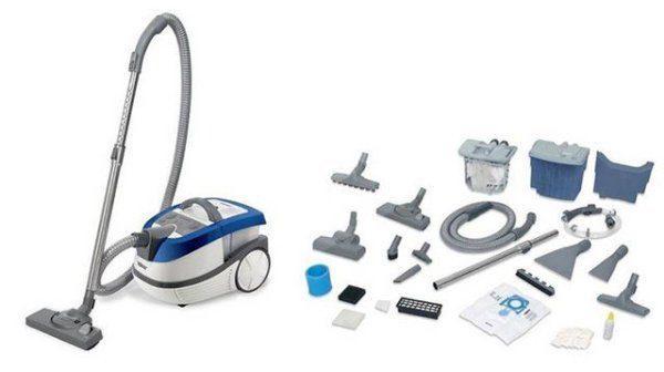 Комплектность пылесоса для влажной уборки