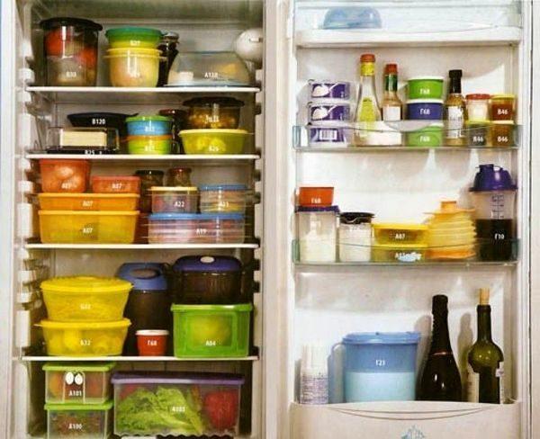 Посуда в холодильнике