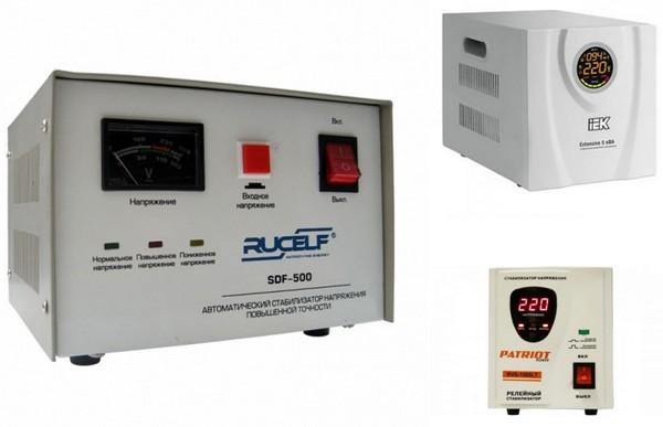 Электромеханический, электронный и релейный стабилизаторы