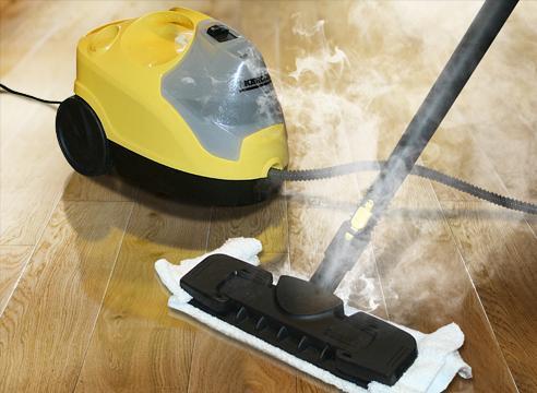 Очищение пола пароочистителем