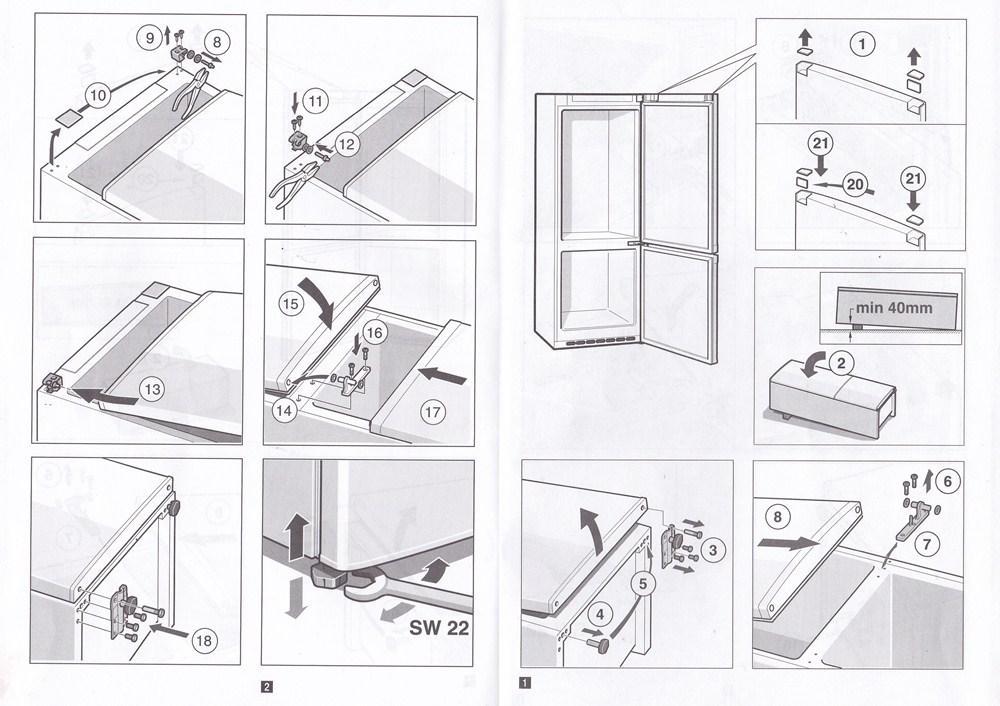 Как переставить дверь на холодильнике своими руками