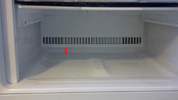 Дренажное отверстие в холодильнике