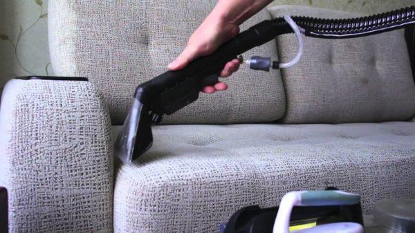 Чистка мебели пароочистителем