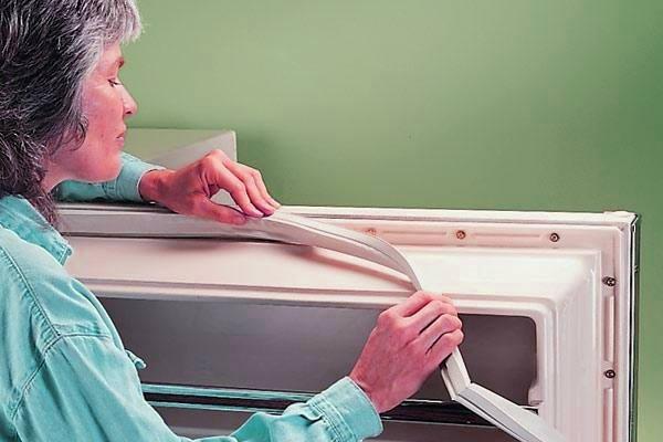 Замена уплотнительной резинки холодильника