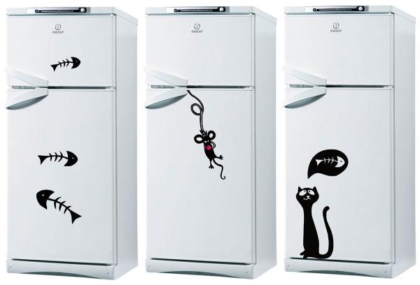 Виниловые наклейки на холодильнике