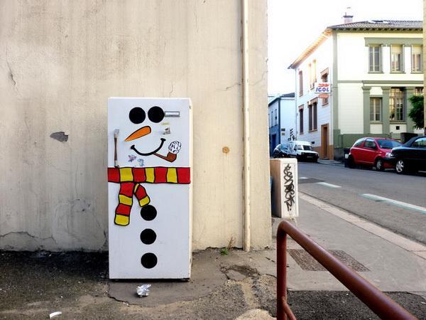Холодильник на улице