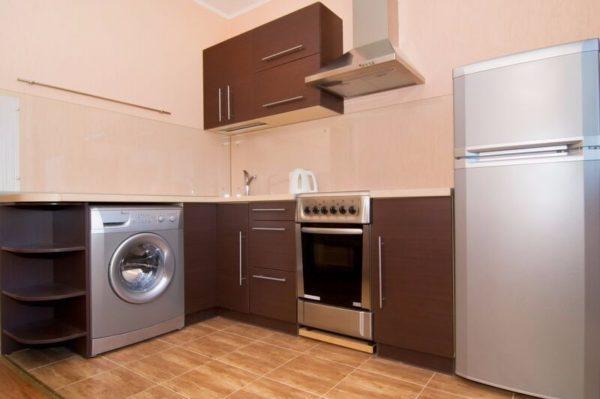Открытый метод встраивания стиральной машинки