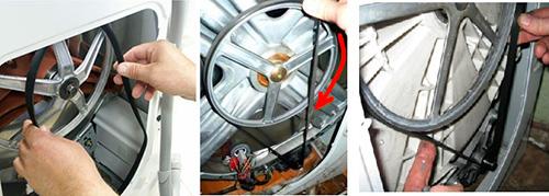 Установка ремня в стиральной машине