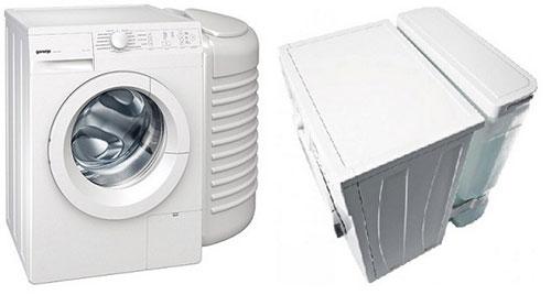 Расположение бака для воды в стиральной машине