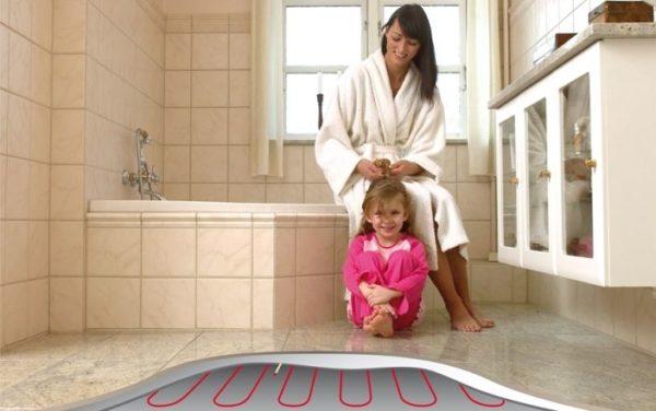 Теплые полы в ванной комнате