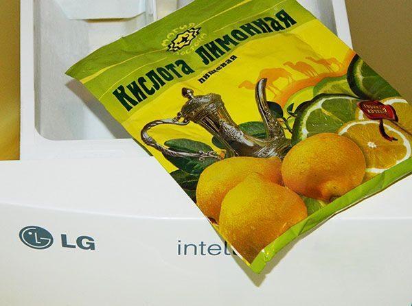 Чистка машинки лимонной кислотой