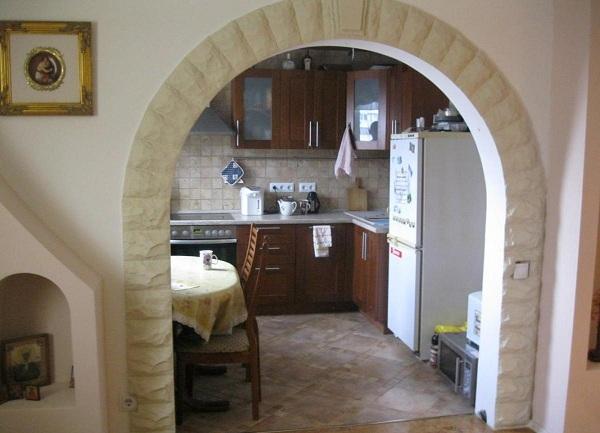 Как сделать арку на кухне