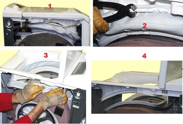 Замена манжеты в стиральной машине с вертикальной загрузкой