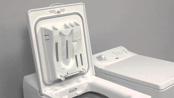Лоток для порошка в стиральной машине с вертикальной загрузкой