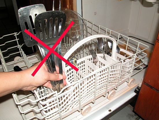 Неправильно размещенная посуда