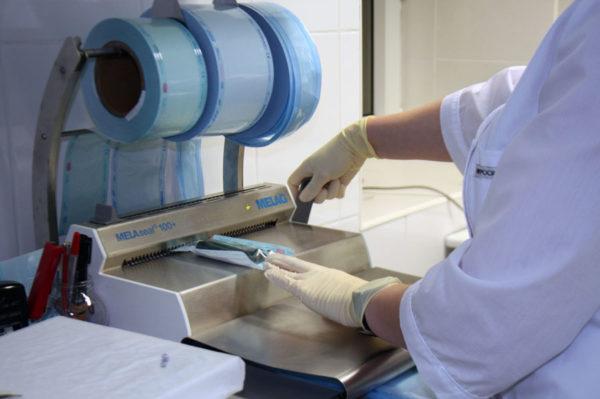 Аппарат для упаковки инструментов