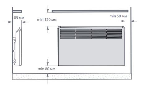 Правила установки конвектора