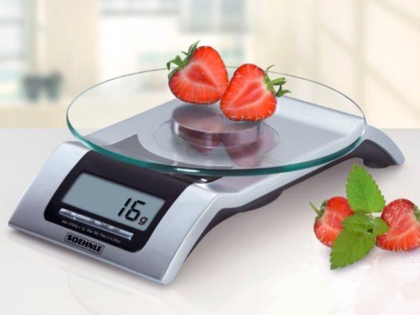 Электронная модель кухонных весов