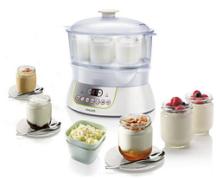 Йогуртница и баночка с продуктом