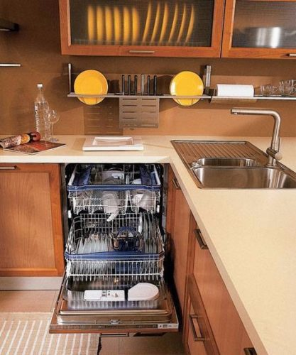 Правильное расположение посудомоечной машины