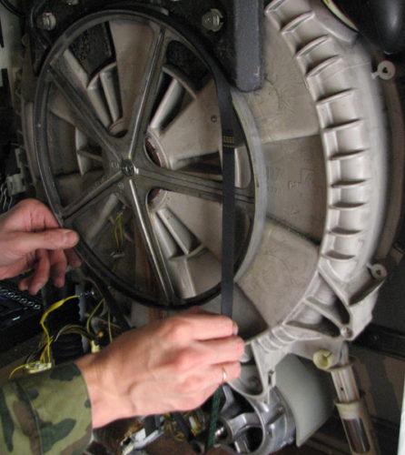 Замена приводного ремня в стиральной машине