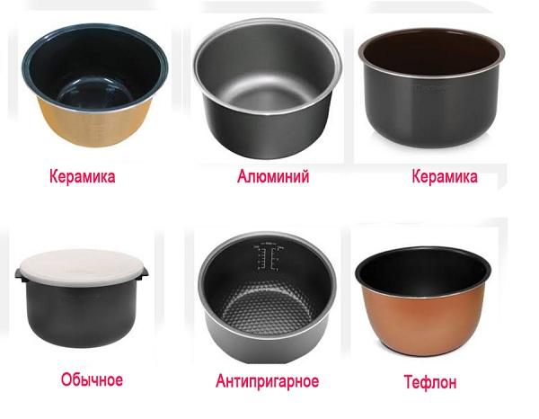 Чаши мультиварки