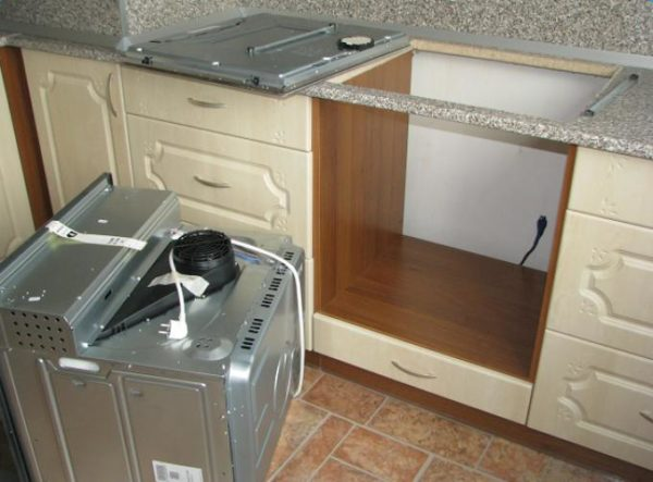 Подготовка ниши и рабочего места под духовку