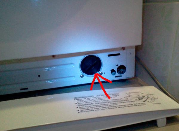 Расположение фильтра в стиральной машине