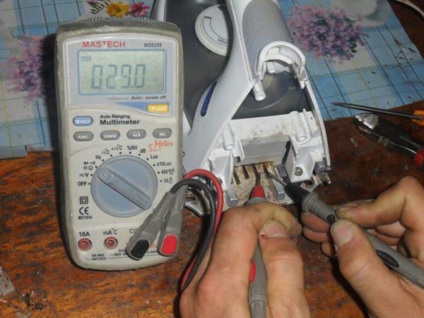 Ремонт ТЭНа и терморегулятора утюга
