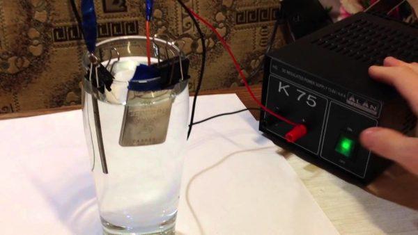 Самодельный серебрянный ионизатор воды