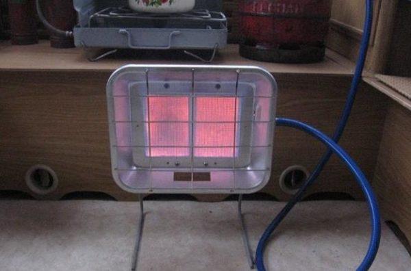 Газовый ИК обогреватель в гараже