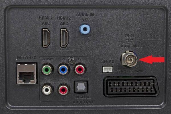Антенный вход на телевизоре