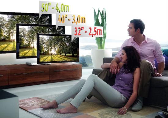 Мужчина и женщина смотрят телевизор