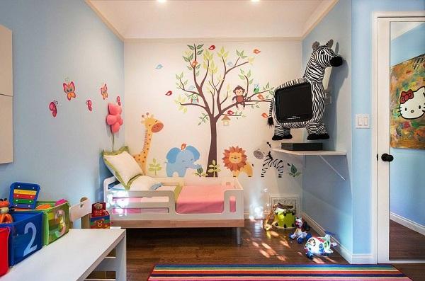 Установка ТВ в детской комнате