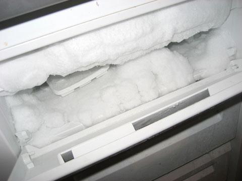 Снежная шуба в морозилке