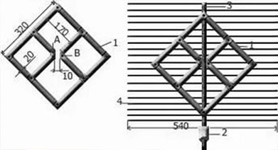"""Схема антенны в виде """"рамки"""""""