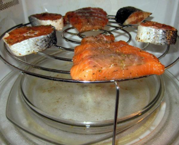 Блюда на гриле в микроволновке