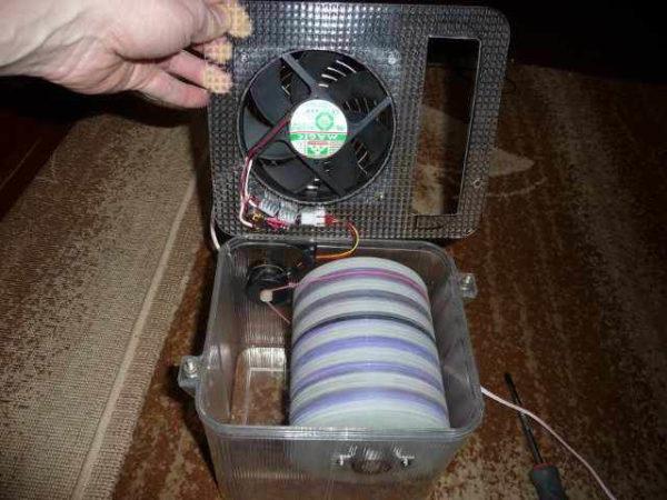 Вентилятор с увлажнителем своими руками