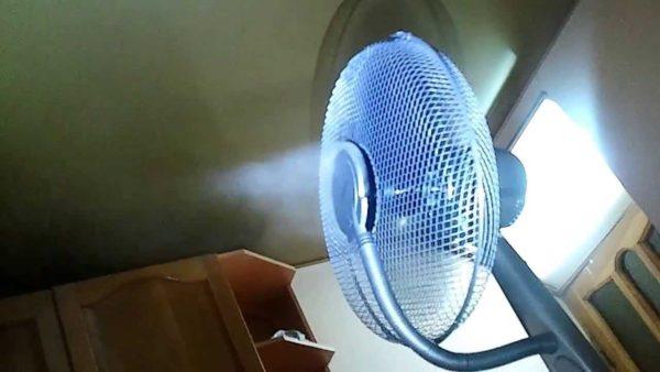 Вентилятор с увлажнителем воздуха ультразвуковой