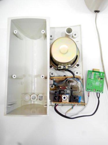 Подключенный модуль к колонке