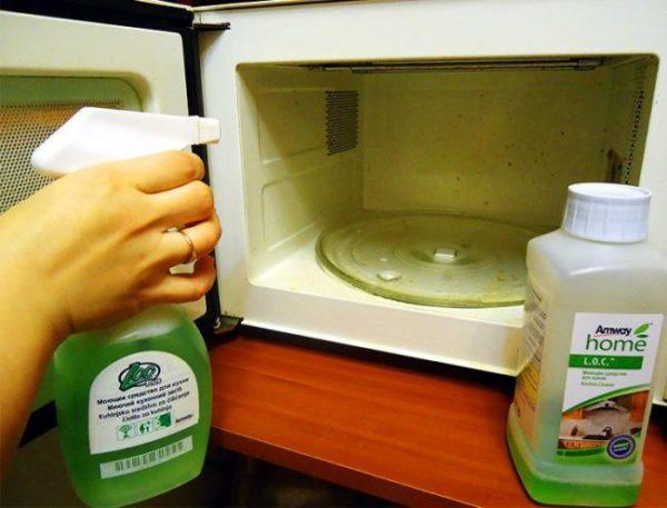 Спрей для очистки микроволновки