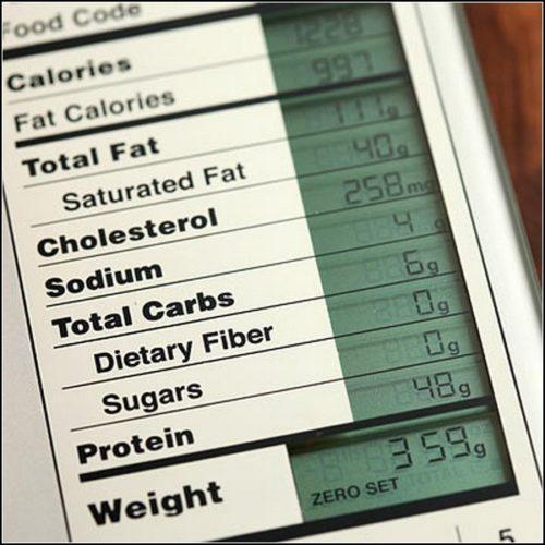 Экран кухонных весов