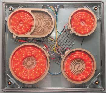 Стеклокерамическая плита без верхнего стекла
