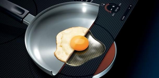 Яйцо на индукционной плите