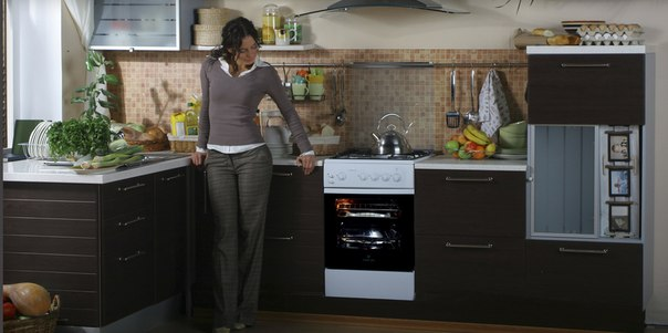Плита газовая на кухне