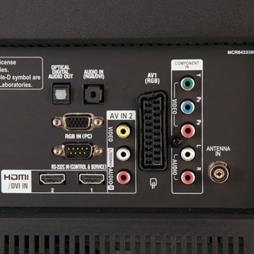 Задняя панель телевизора LG