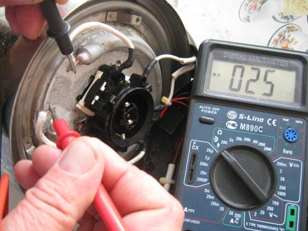 Проверка электрочайника мультиметром