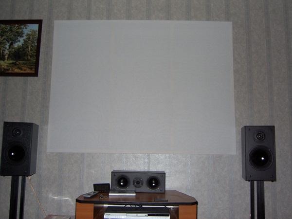 Экран из ткани
