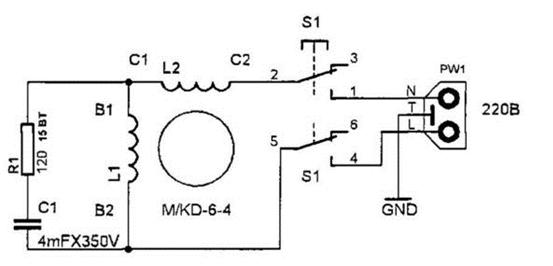 Схема дрели